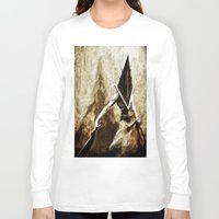 silent hill Long Sleeve T-shirts featuring Silent Hill Pyramid Head by Joe Misrasi