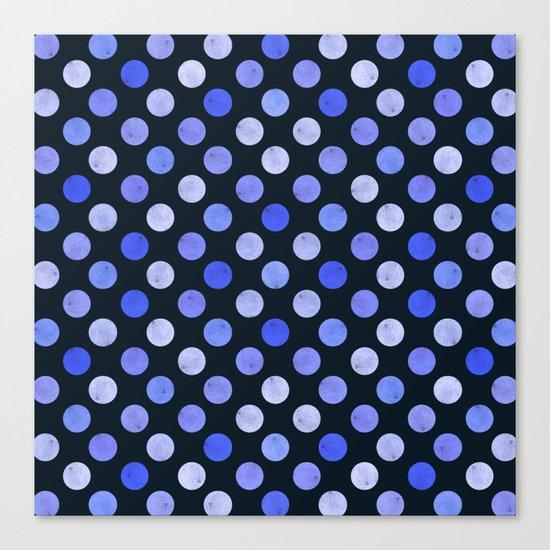 Watercolor Dots Pattern X Canvas Print
