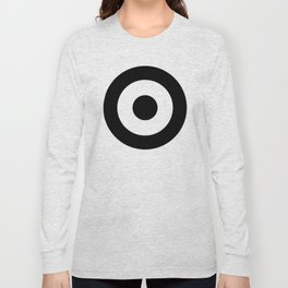 Black & White Mod Target Long Sleeve T-shirt