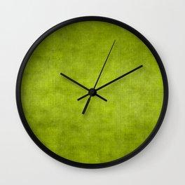 """""""Summer Fresh Green Garden Burlap Texture"""" Wall Clock"""