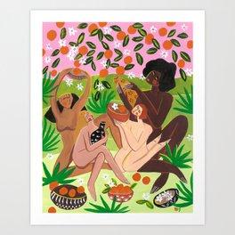 Summertime harvest Art Print
