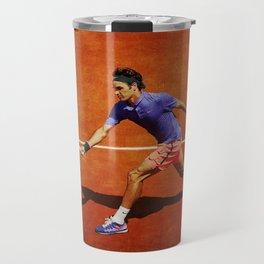 Roger Federer Tennis Chip Return Travel Mug