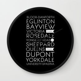 Toronto Subway Wall Clock