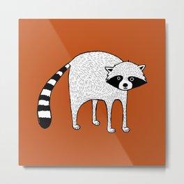 Raccoon swoon Metal Print