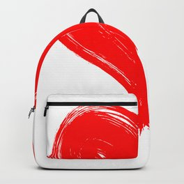 Red Heart painting Backpack