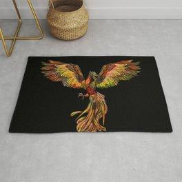 Phoenix Rising - on black Rug