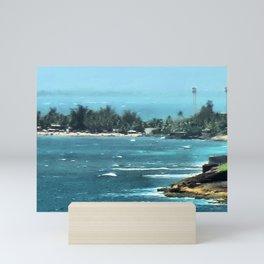 Blurring Into Distance Mini Art Print
