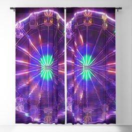 Ferris Wheel Reflection Blackout Curtain