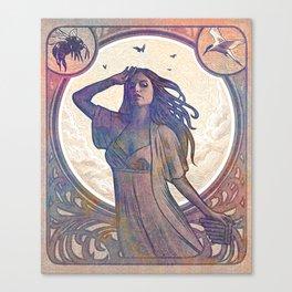 Evolution of Goddess: Wind Canvas Print