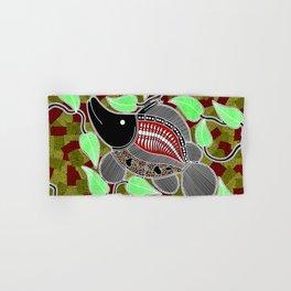 Authentic Aboriginal Art - Barramundi Hand & Bath Towel