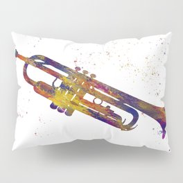 trumpet in watercolor Pillow Sham