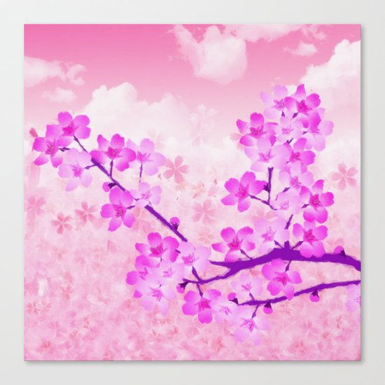 Cherry Blossom - Variation 4 Canvas Print