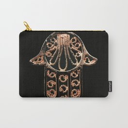 Golden Hamsa Hand On A Black Background #decor #society6 Carry-All Pouch