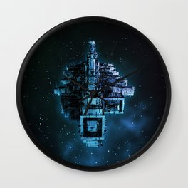Leviathan BLUE / Keep on trucking Wall Clock