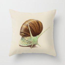 Snail Two Throw Pillow