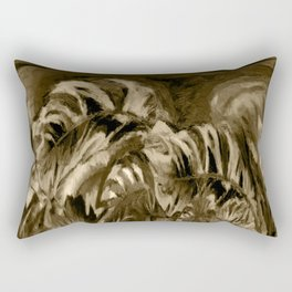 Unique Brown Abstract Rectangular Pillow