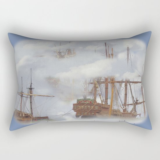 Cloudships Rectangular Pillow