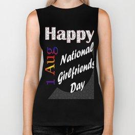 Aug 1st National Girlfriends Day Fun Gift Idea Design Biker Tank
