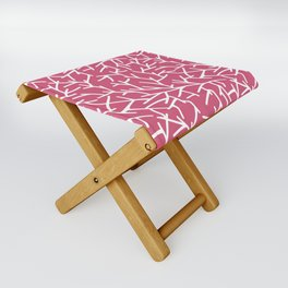 Branches - pink Folding Stool
