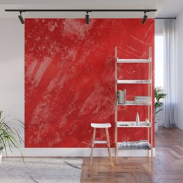 Love And Fury - Abstract painting in red Wall Mural
