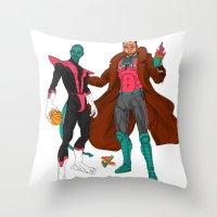 nightcrawler Throw Pillows featuring Parkcrawler and Ginobilit by Joey Cienian