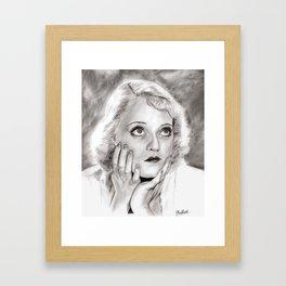 Bette Davis'Eyes Framed Art Print