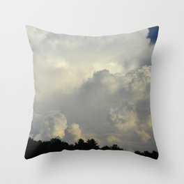 White Cloudscape Throw Pillow