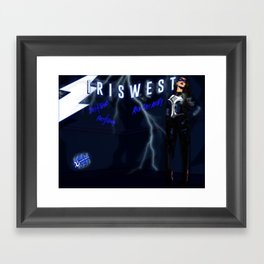 XSuperModels - SpeedsterPinup - The Writings On The Wall Framed Art Print