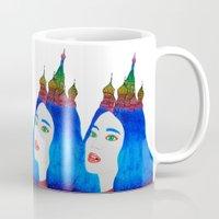russia Mugs featuring Russia by Luna Portnoi