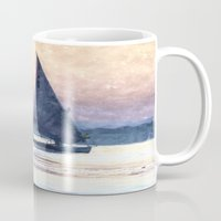 water colour Mugs featuring Felucca Water Colour by Brian Raggatt