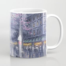 City of Lights, Eiffel Tower, Twilight Paris, France Street Scene landscape painting Coffee Mug