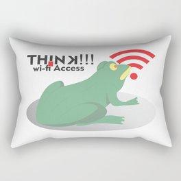 frog get wifi access Rectangular Pillow