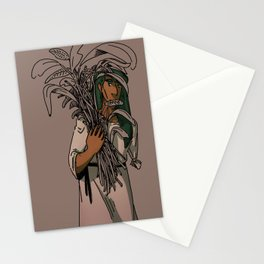 Odo with plants Stationery Cards