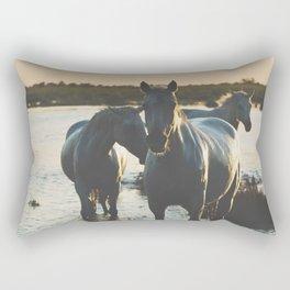 Camargue Horses III ... Rectangular Pillow