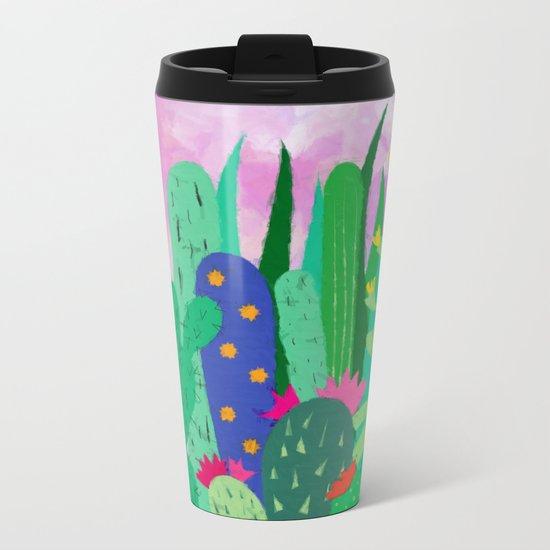 Painted cacti Metal Travel Mug