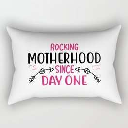 Mother with baby belly and son Rectangular Pillow