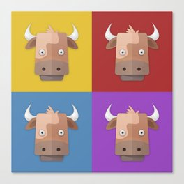 Warhol's Cow Canvas Print