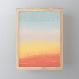 Ceramic Sunset // Multi Color Speckled Drip Summer Beach California Surf Vibes Wall Hanging Design Framed Mini Art Print