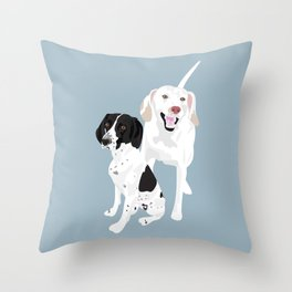 Penny and Cassie Throw Pillow