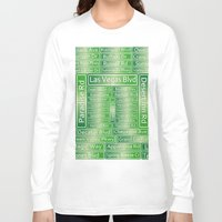 las vegas Long Sleeve T-shirts featuring Las Vegas Street Signs by Gravityx9
