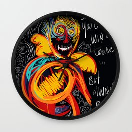 Always be proud of you street art graffiti Wall Clock