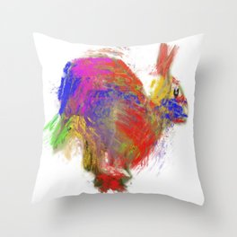 speed paint Throw Pillow