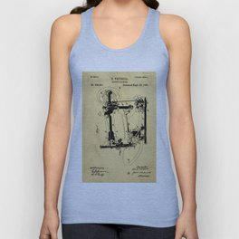Sewing Machines Support Patent Drawing From 1885 Unisex Tank Top