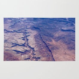AERIAL VIEW DESERT CANYON Rug