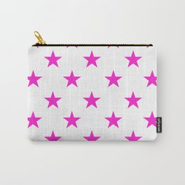 Stars (Hot Magenta/White) Carry-All Pouch