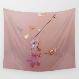 Pink Bath Photoshoot Wall Tapestry