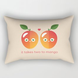 It Takes Two to Mango Rectangular Pillow