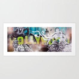 Hollywood Upgraded Art Print