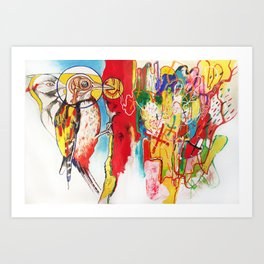 The Anatomy of Self Infliction  Art Print