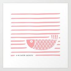 PIXE 2 (light pink) Art Print